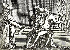 """Bild Karikatur Frau als Geige mit UT: Gedicht und Abb. aus: """"Frau, Musik und Männerherrschaft"""" (Berlin 1981, S. 7)"""