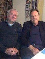 Roland Jerzewski mit Schriftsteller Peter Schneider (re.) 2014